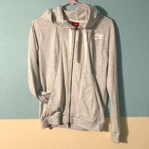 Heather Gray Nike zip-up
